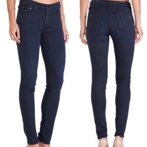 Rag and Bone Distressed Navy Skinny Jeans